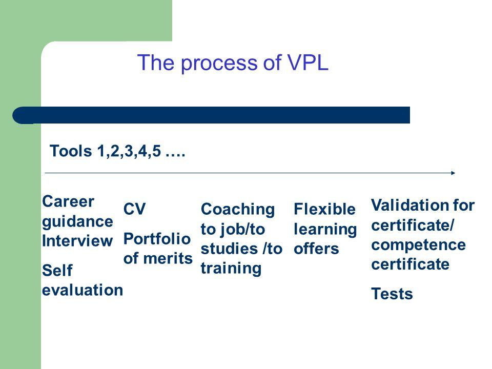 The process of VPL Tools 1,2,3,4,5 ….