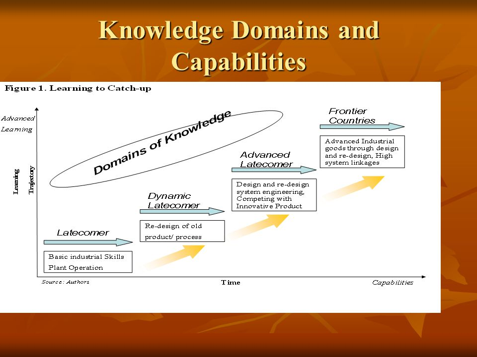 Knowledge Domains and Capabilities