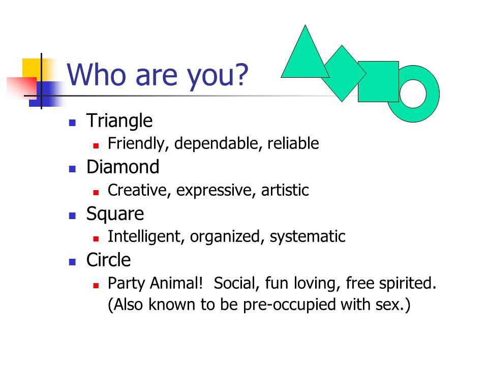 Who are you? Triangle Diamond Square Circle