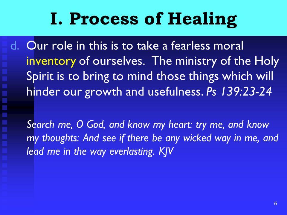 7 I.Process of Healing e.Examine the pain.