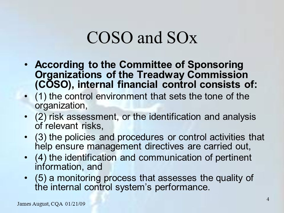 James August, CQA 01/21/09 85 Risk management conclusions Consider the potential risks of every decision Include the RTP decisions as they can hide substantial risk Consider all four risk cases When appropriate support your assessment with recognized c/b calculations