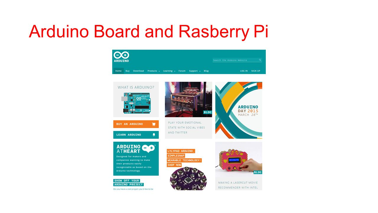 Arduino Board and Rasberry Pi