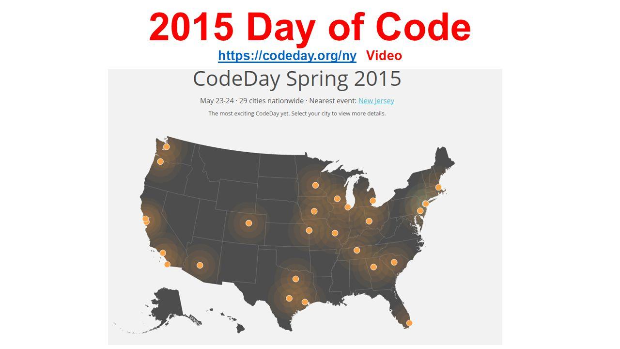 2015 Day of Code https://codeday.org/ny Video https://codeday.org/ny