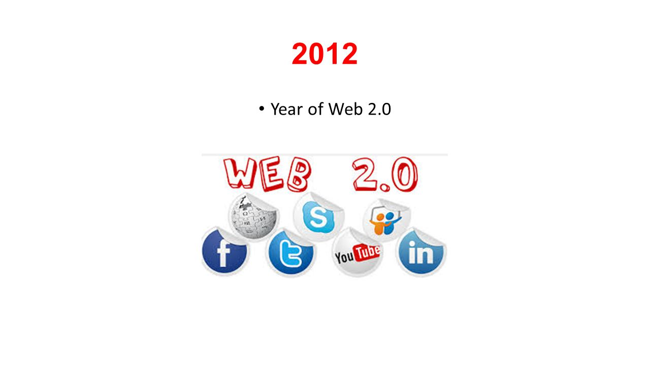 2012 Year of Web 2.0