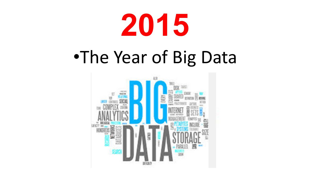 2015 The Year of Big Data