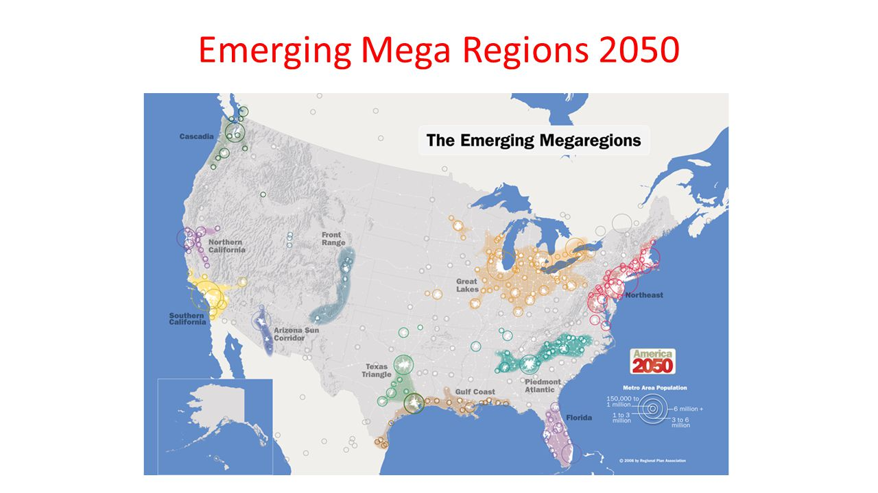 Emerging Mega Regions 2050
