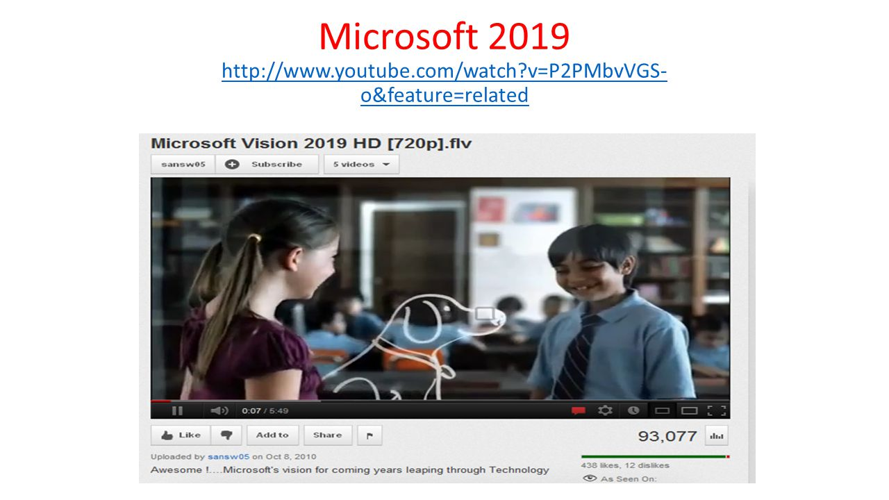 Microsoft 2019 http://www.youtube.com/watch?v=P2PMbvVGS- o&feature=related http://www.youtube.com/watch?v=P2PMbvVGS- o&feature=related