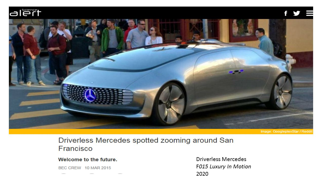 Driverless Mercedes F015 Luxury In Motion 2020