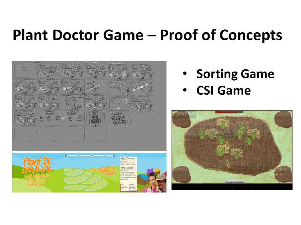 Plant Doctor Game – Proof of Concepts Sorting Game CSI Game