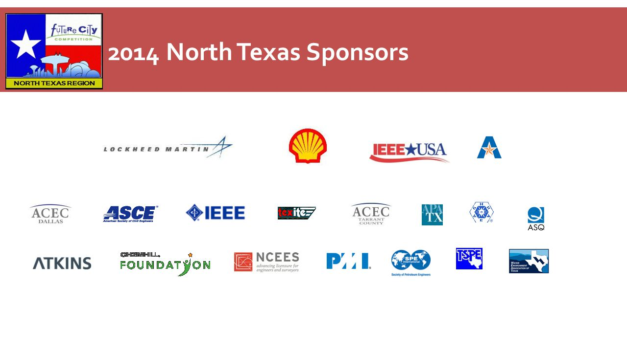 2014 North Texas Sponsors