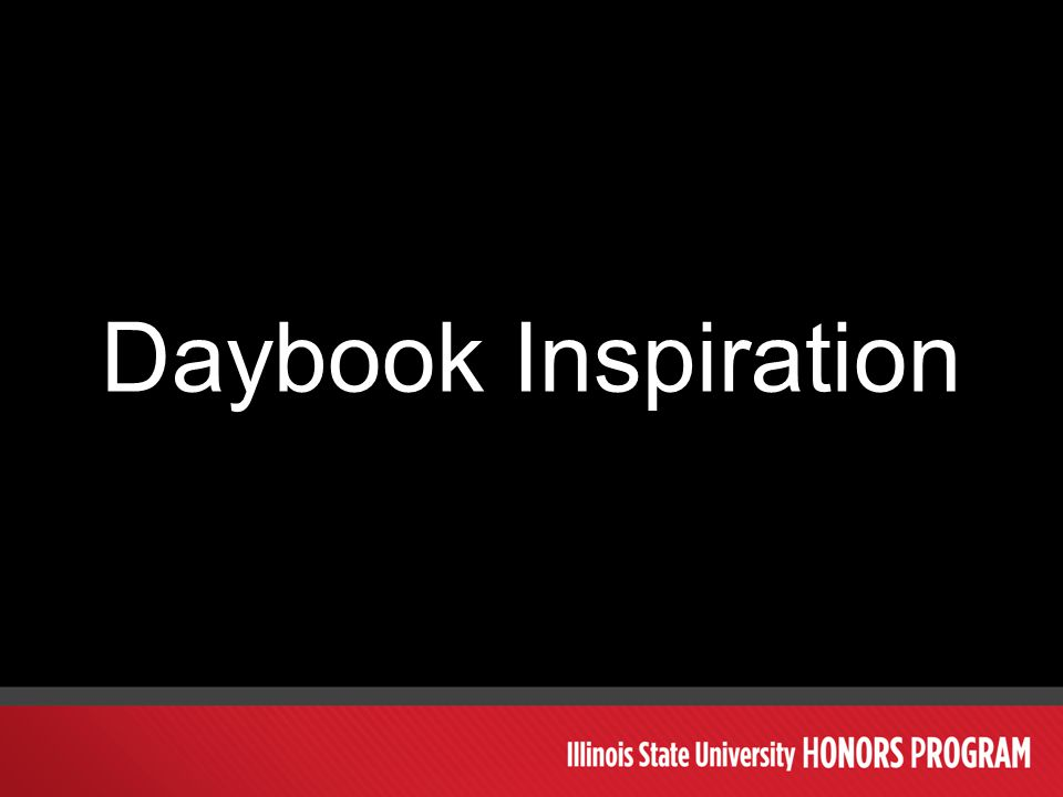 Daybook Inspiration