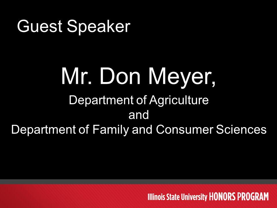 Guest Speaker Mr.