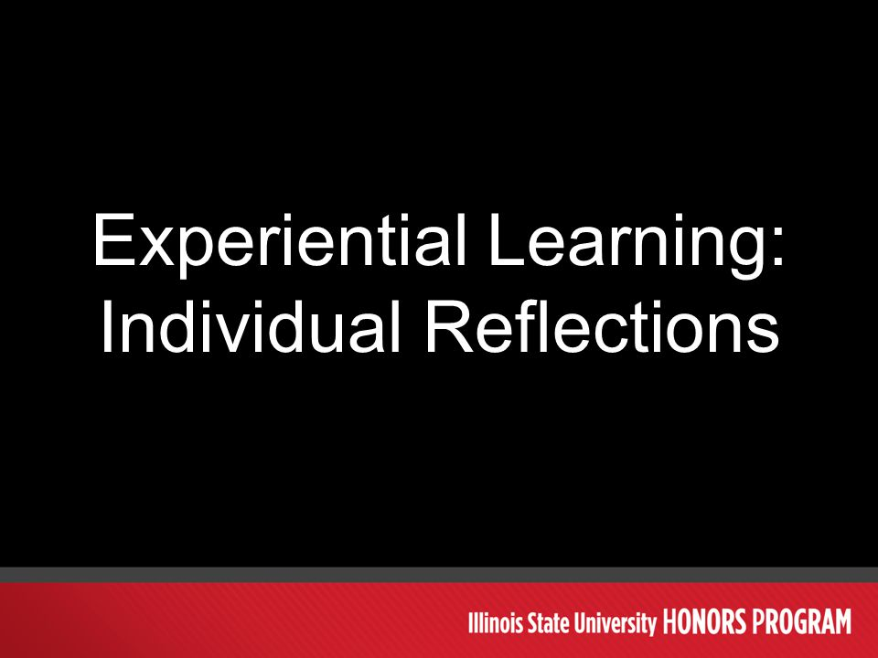 Experiential Learning: Individual Reflections