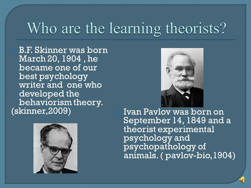What is a learning theory.