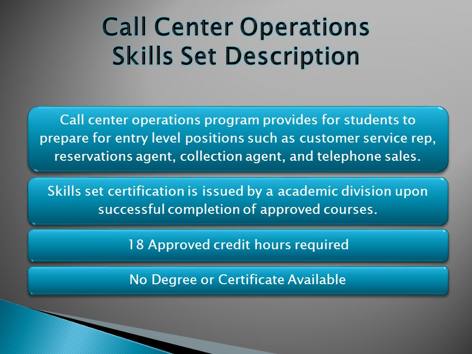 Skills set certification is issued by a academic division upon successful completion of approved courses.