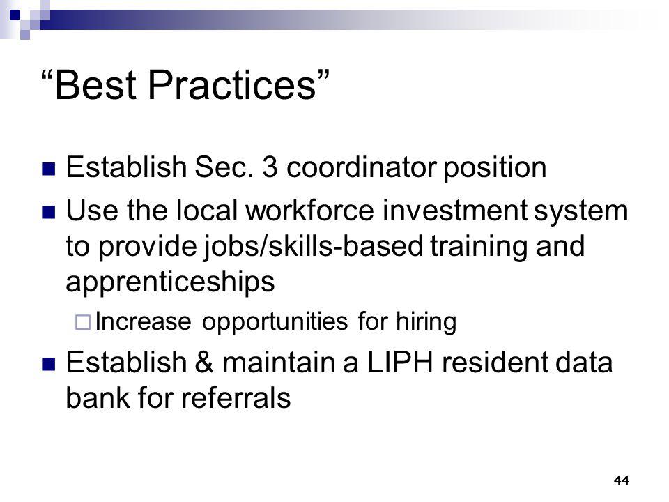 44 Best Practices Establish Sec.