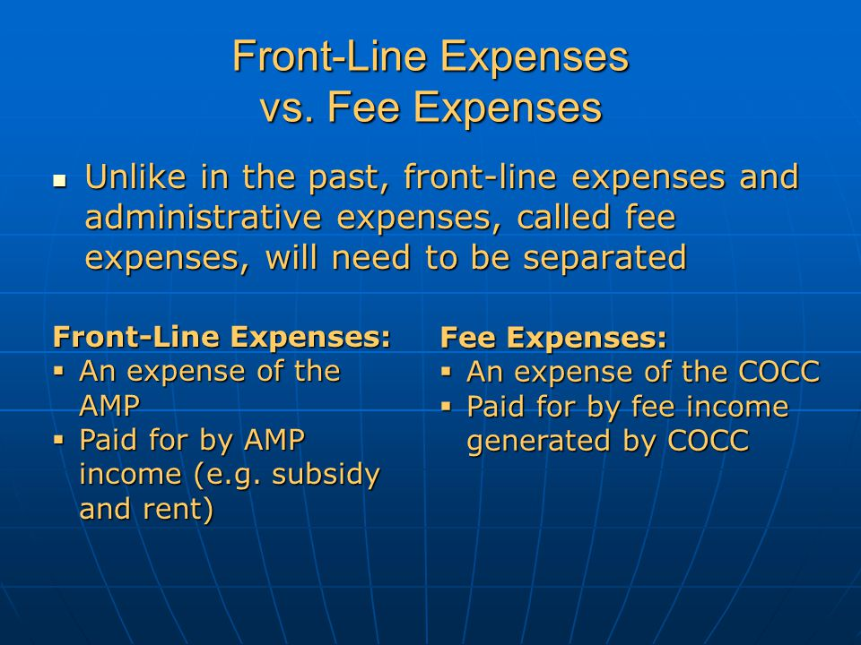 What is Classified as a Fee Expense.
