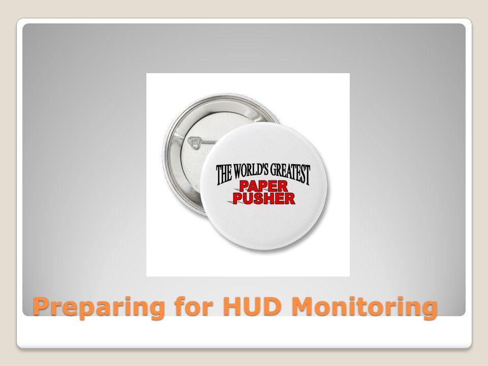 Preparing for HUD Monitoring