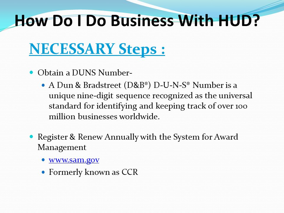 How Do I Do Business With HUD.