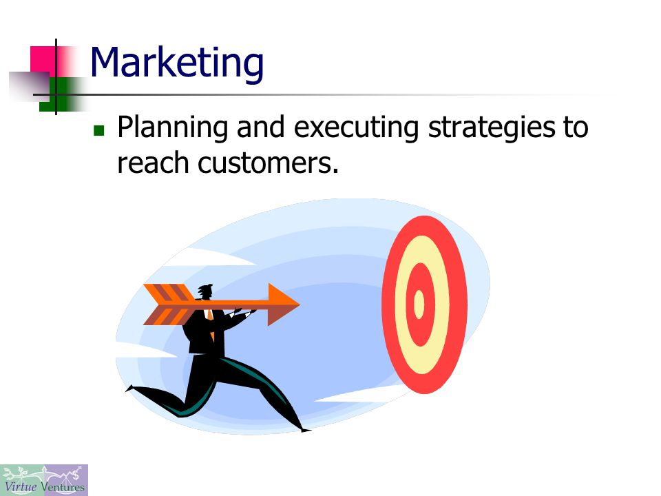 Marketing Planning and executing strategies to reach customers.