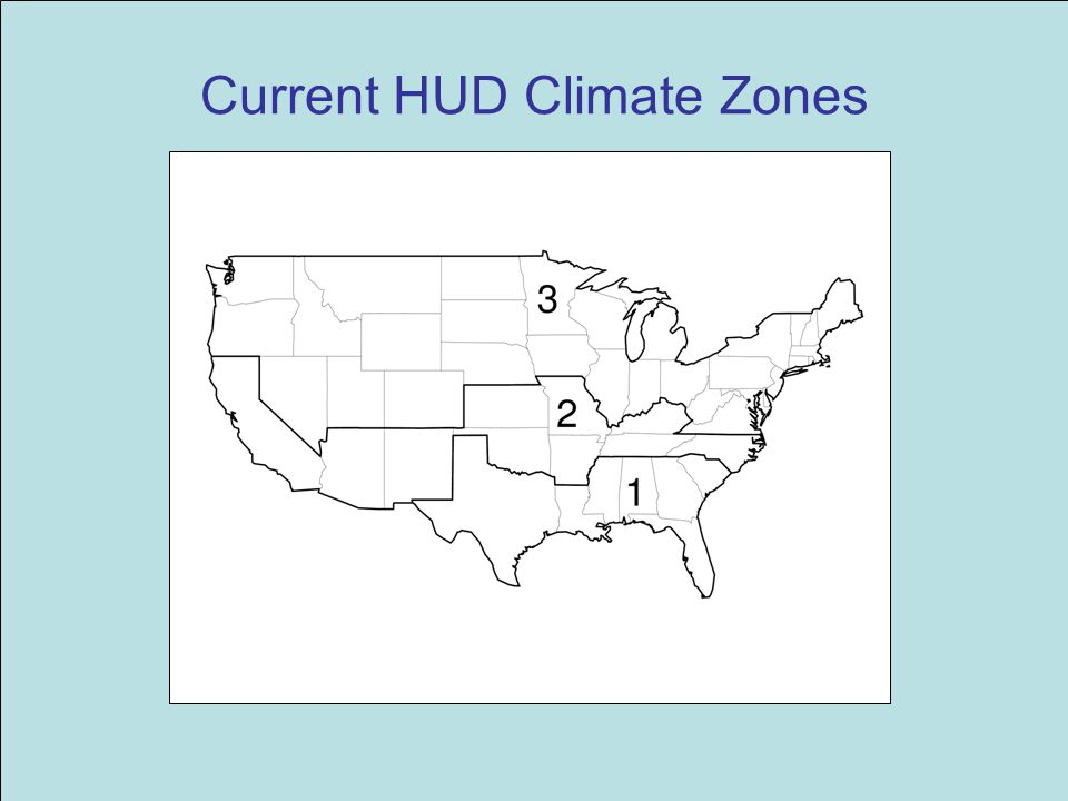 Current HUD Climate Zones