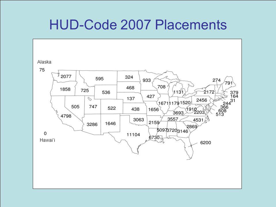 HUD-Code 2007 Placements Alaska Hawai'i