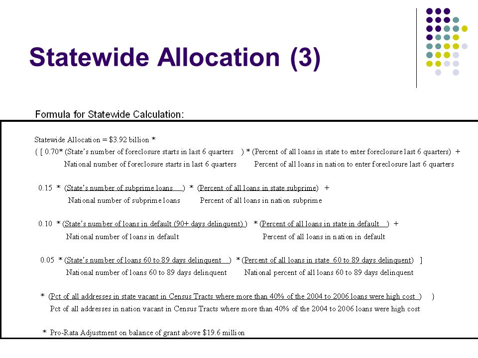 Statewide Allocation (3)