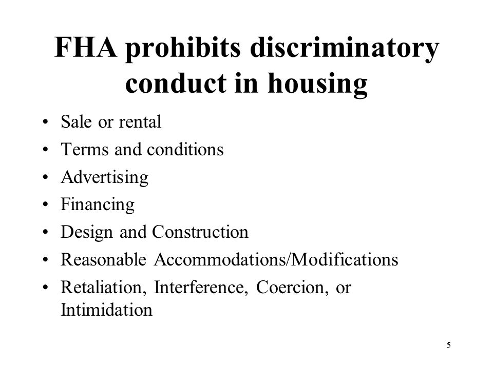 6 Disability Discrimination Issues Traditional Design and Construction Requirements (Accessibility) Reasonable Accommodations/Modifications