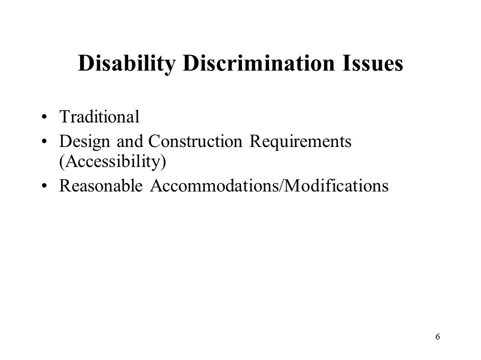 Design and Construction Joint Statement of HUD-DOJ (Design and Construction Requirements for Covered Multifamily Dwellings Under the FHA) Issued: April 30, 2013 63 Questions and Answers Accessibility requirements Types of dwellings Public and common use areas 7