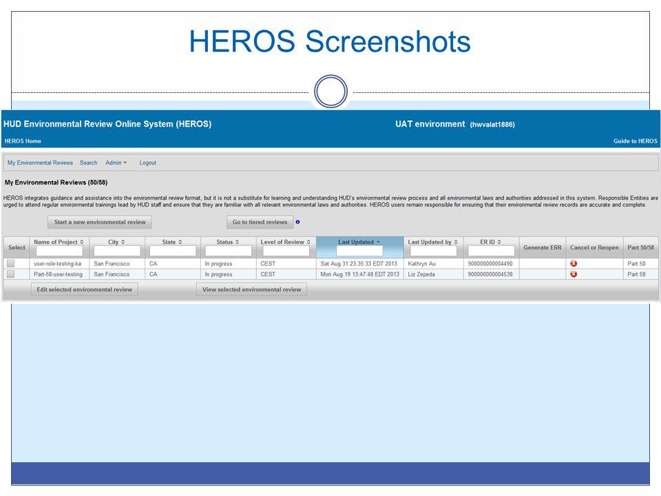 HEROS Screenshots