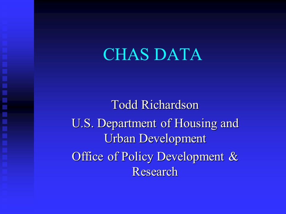 CHAS DATA Todd Richardson U.S.