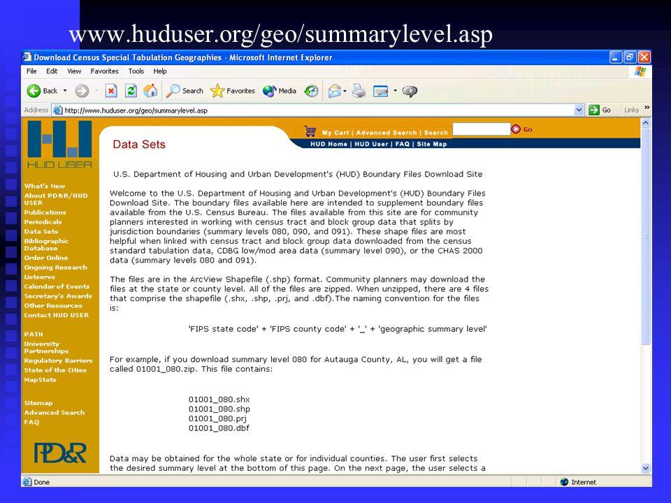 www.huduser.org/geo/summarylevel.asp