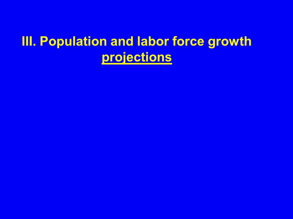 III. Population and labor force growth projections
