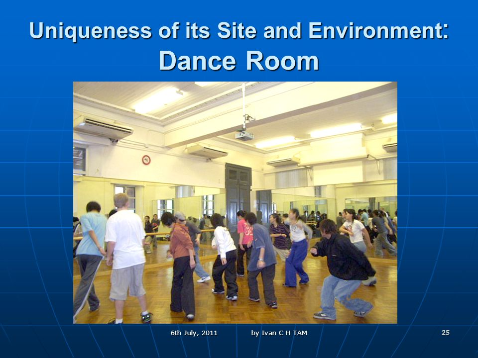 25 Uniqueness of its Site and Environment : Dance Room 6th July, 2011 by Ivan C H TAM