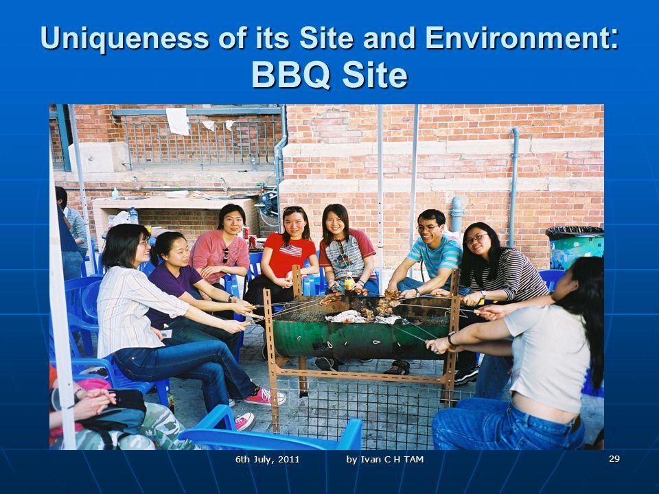 29 Uniqueness of its Site and Environment : BBQ Site 6th July, 2011 by Ivan C H TAM