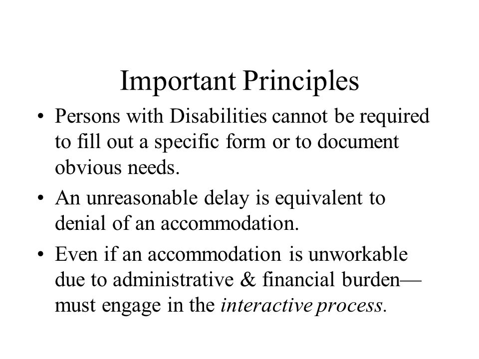 The Requested Accommodation must be related to the Disability