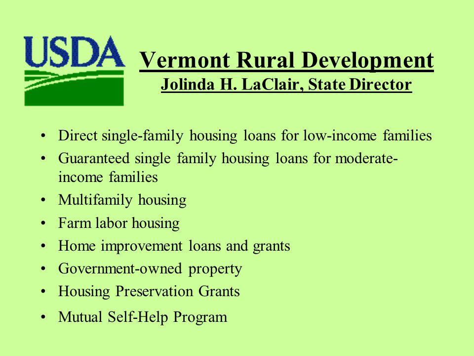 Vermont Rural Development Jolinda H.