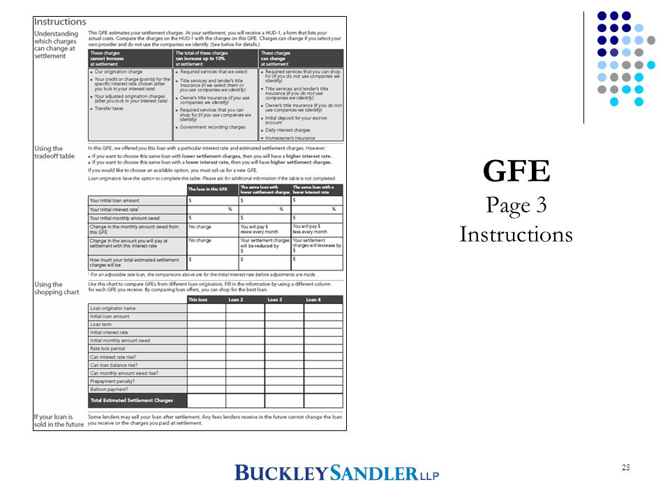 25 GFE Page 3 Instructions