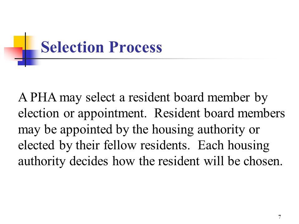 6 Resident Board Members Why include residents on the board and what is their function.