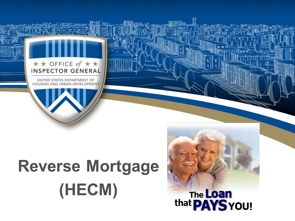 Latest Trends in Mortgage Fraud  People over 62 convert portion of their equity into cash or line of credit.