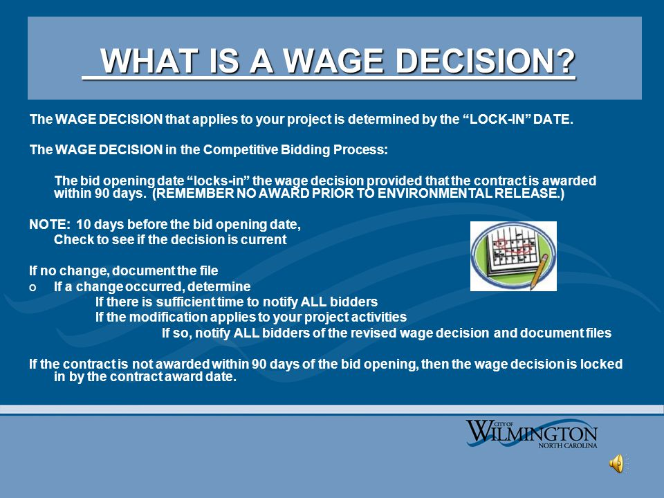 http://www.wdol.gov WHAT IS A WAGE DECISION