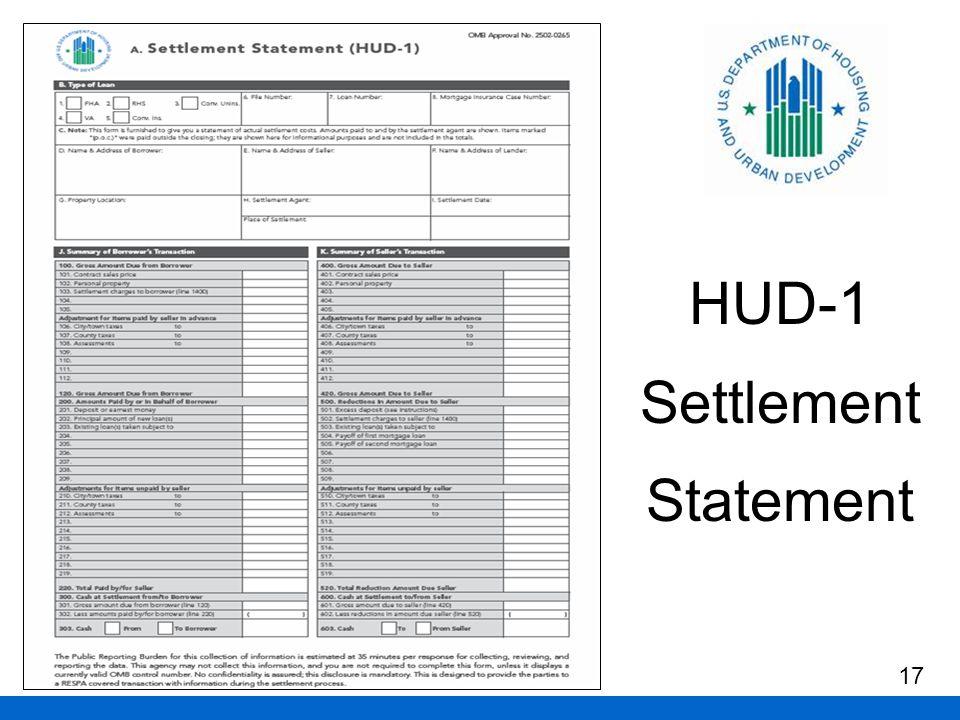 HUD-1 Settlement Statement 17