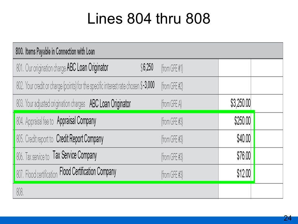 Lines 804 thru 808 24
