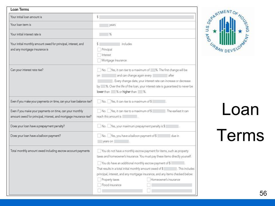 Loan Terms 56