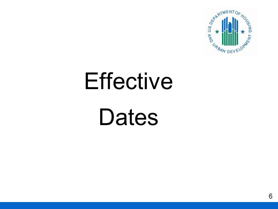 Effective Dates 6