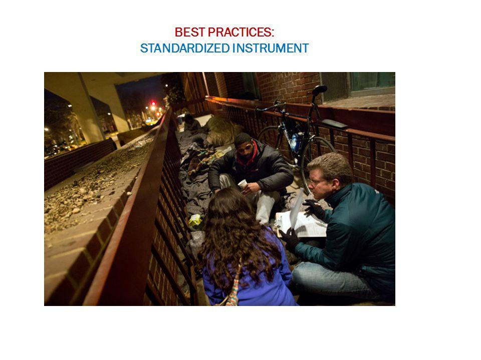 BEST PRACTICES: STANDARDIZED INSTRUMENT