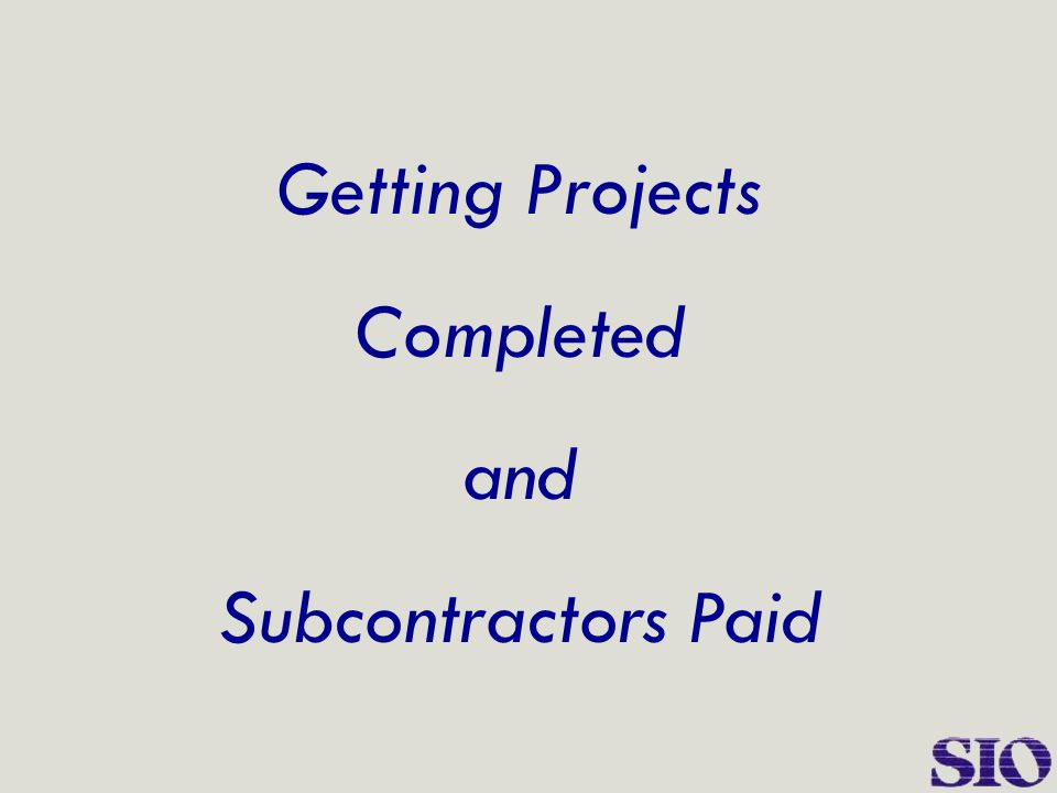 The Outcome  School opened on time  Paperwork not delayed  Work completed on time  No loss of tax credits or financing  Occupied in time to satisfy HUD deadlines  Construction company stayed in business