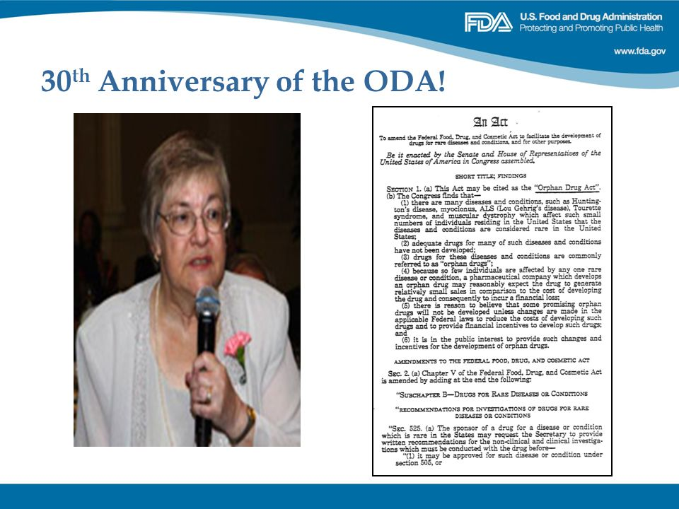 30 th Anniversary of the ODA!