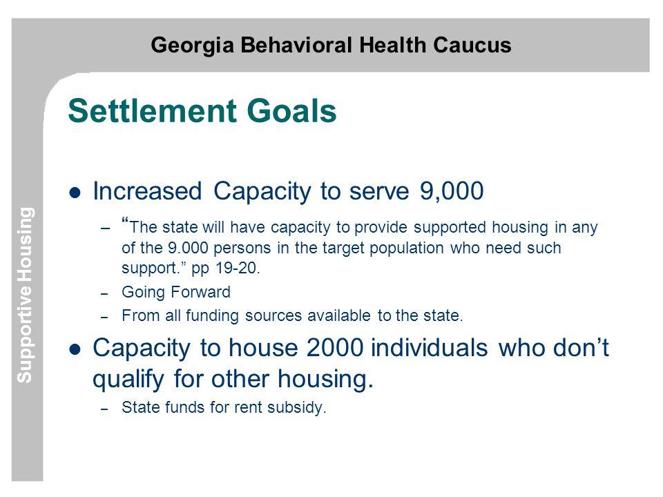 Georgia Behavioral Health Caucus Supportive Housing How do you get more.