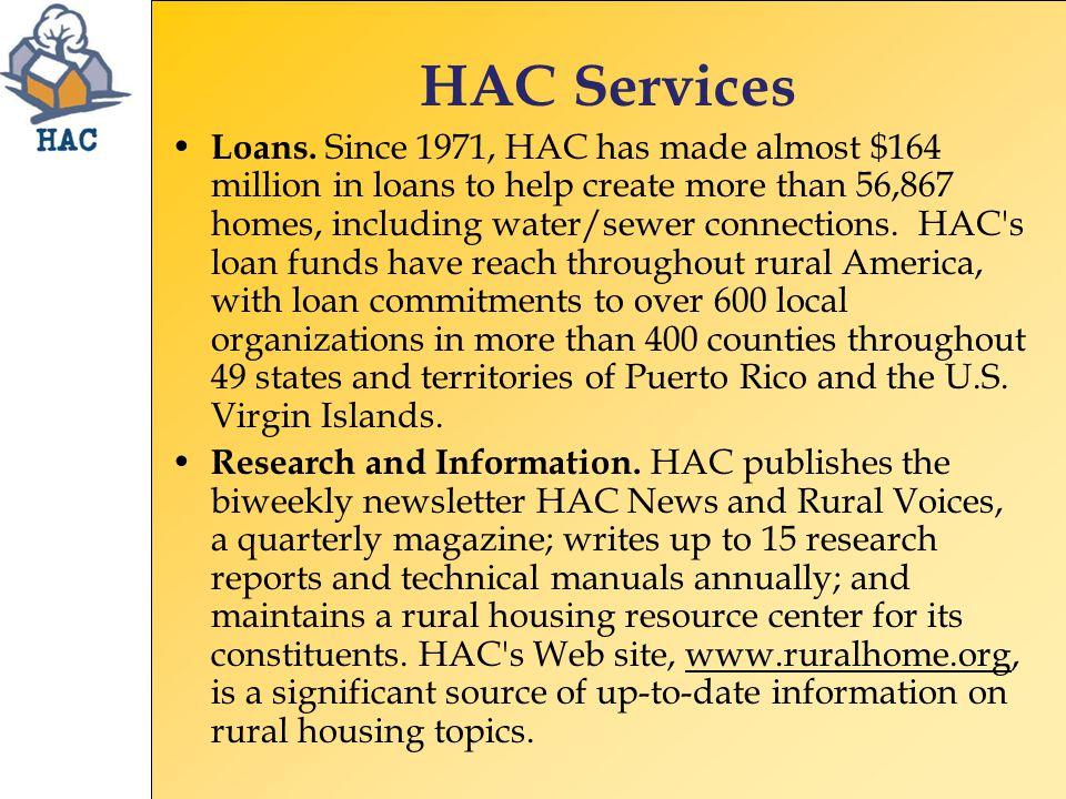 HAC Services Technical Assistance.